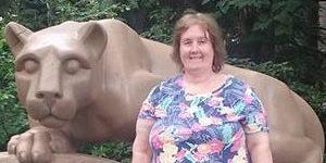 Photo of Helen Adler at the Nittany Lion Shrine