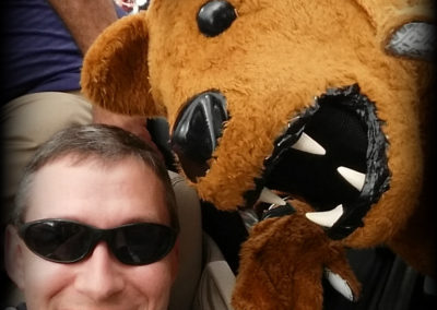 CFL Chapter President and the Nittany Lion at the Citrus Bowl Parade 2018