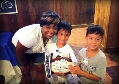 Winners of Barkley Autographed Football with CFL Chapter VP - 2018