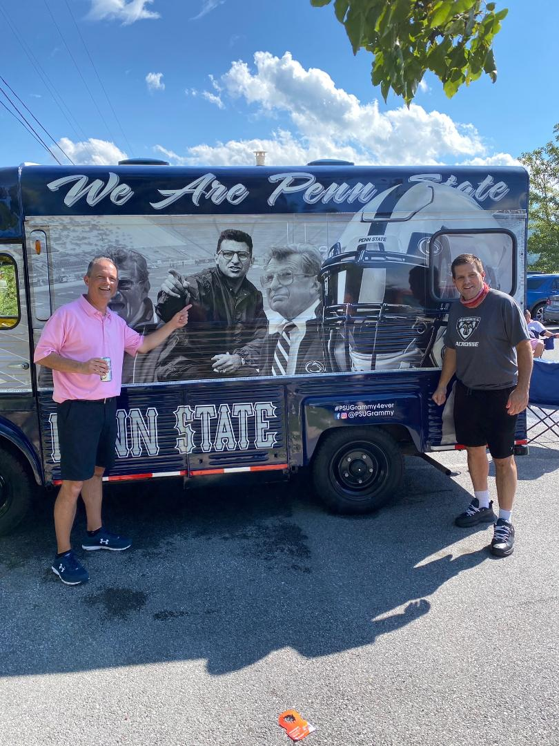 Jay Paterno by a Penn State Truck